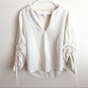 H&M Peasant Style Shirt in Cream Color.